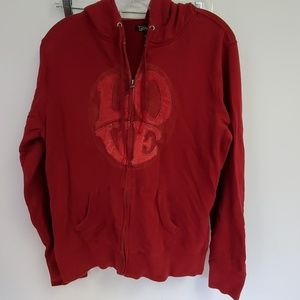 Hoody Zip Sweatshirt Love